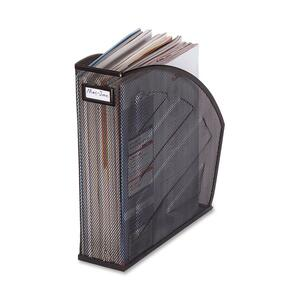 Rolodex Mesh Magazine File - Black, Silver - Steel - 1 Pack