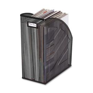 Rolodex Mesh Jumbo Magazine File - Black - Steel - 1 Pack