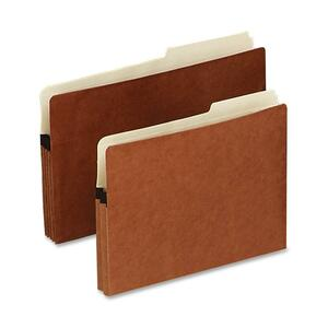 "Pendaflex File Pocket with Tab - 1.75"" Expansion - 2/5 Cut Tab - 8.5"" x 11"" - Letter - 1 Each - Red"