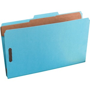 "Oxford PressGuard Classification Folder - Legal - 8.5"" x 14"" - 2/5 Tab Cut - 2 Divider - 2"" Expansion - 2 Fastener - 2"" Capacity - 1 Each - 20pt. - Light Blue"