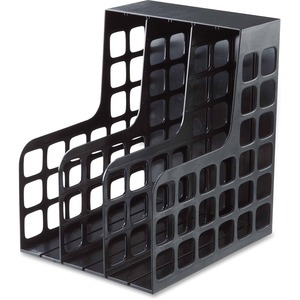 Oxford Decorack Shelf File - 2 Divider(s) - Black - Plastic - 1 Pack