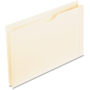 "Pendaflex Reinforced-Top File Jacket - Legal - 8.5"" x 14"" - Straight Tab Cut - 2"" Expansion - 50 / Box - 11pt. - Manila"