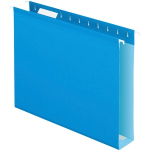 "Esselte Colored Box Bottom Hanging Folder - Letter - 8.5"" x 11"" - 2"" Capacity - 25 / Box - Blue"