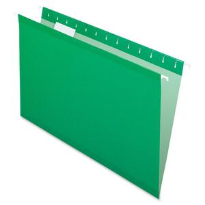 "Esselte Hanging Folder - Legal - 8.5"" x 14"" - 1/5 Tab Cut - 25 / Box - Green"