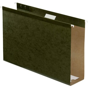 "Esselte Hanging Folder - 3"" Expansion - 3"" Capacity - 25 / Box - Green"