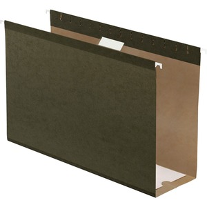 "Esselte Hanging Folder - 4"" Expansion - 4"" Capacity - 25 / Box - Green"