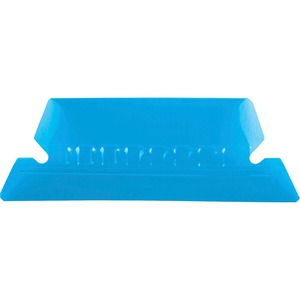 Esselte Plastic Hanging File Folder Tabs - 25 x Tab - 5 Tab(s)/Set - 25 / Pack - Blue Tab