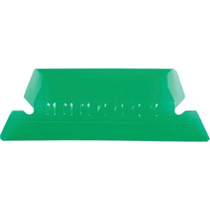 Esselte Plastic Hanging File Folder Tabs - 25 x Tab - 5 Tab(s)/Set - 25 / Pack - Green Tab