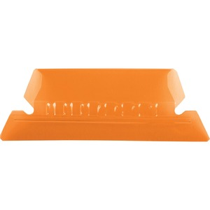 Esselte Plastic Hanging File Folder Tabs - 25 x Tab - 5 Tab(s)/Set - 25 / Pack - Orange Tab