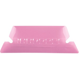Esselte Plastic Hanging File Folder Tabs - 25 x Tab - 5 Tab(s)/Set - 25 / Pack - Pink Tab