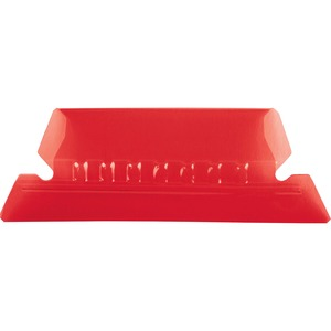 Esselte Plastic Hanging File Folder Tabs - 25 x Tab - 5 Tab(s)/Set - 25 / Pack - Red Tab