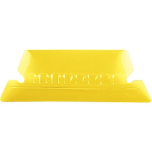 Esselte Plastic Hanging File Folder Tabs - 25 x Tab - 5 Tab(s)/Set - 25 / Pack - Yellow Tab