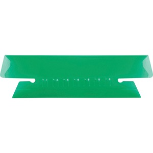 Esselte Plastic Hanging File Folder Tabs - 25 x Tab - 3 Tab(s)/Set - 25 / Pack - Green Tab