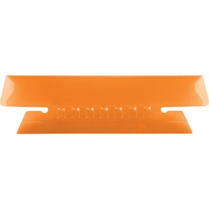 Esselte Plastic Hanging File Folder Tabs - 3 Tab(s)/Set - 25 / Pack - Orange Tab