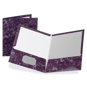 Oxford Marble Laminated Twin Pocket Folders ESS51626