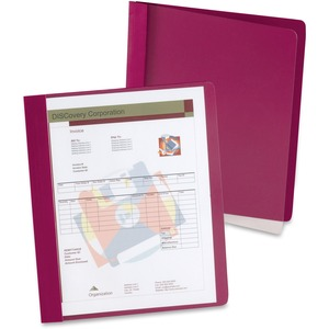 "Esselte Extra-Wide Report Cover - Letter - 8.5"" x 11"" - 3 Fastener - 100 Sheet x 0.5"" Capacity - 25 / Box - Dark Red"