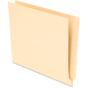 "Esselte MicrobeGuard End Tab File Folder - Letter - 8.5"" x 11"" - 1/3 Tab Cut - 75 / Box - Manila"