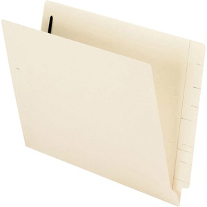 "Esselte MicrobeGuard End Tab File Folder - Letter - 8.5"" x 11"" - 1 Fastener - 50 / Box - Manila"