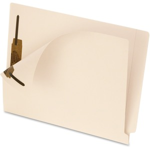 "Esselte MicrobeGuard End Tab File Folder - Letter - 8.5"" x 11"" - 2 Fastener - 50 / Box - Manila"
