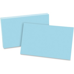 "Esselte Colored Blank Index Card - 5"" x 8"" - 100 / Pack - Blue"