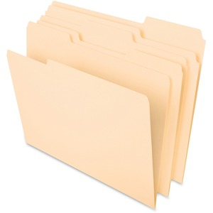 "Esselte File Folder - Letter - 8.5"" x 11"" - 1/3 Tab Cut - 0.75"" Expansion - 100 / Box - 11pt. - Manila"