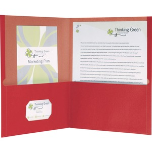Earthwise Oxford 100% Recycled Paper Twin Pocket Folders ESS78511