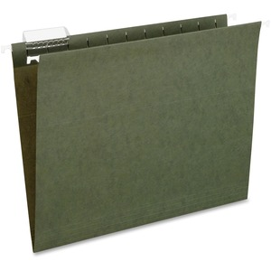 "Esselte Hanging File Folder - Letter - 8.5"" x 11"" - 1/5 Tab Cut - 25 / Box - Green"