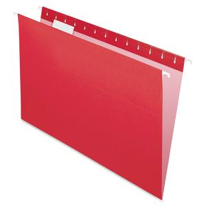 "Esselte Pendaflex Essentials Hanging Folder - Legal - 8.5"" x 14"" - 1/5 Tab Cut - 25 / Box - Red"