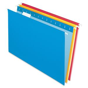 "Esselte Hanging Folder - Legal - 8.5"" x 14"" - 1/5 Tab Cut - 25 / Box - Assorted"