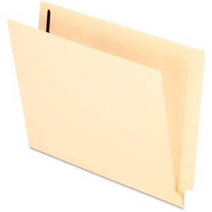 "Esselte Manila End Tab File Folder with Fastener - Letter - 8.5"" x 11"" - Straight Tab Cut - 0.75"" Expansion - 1 Fastener - 2"" Capacity - 50 / Box - 11pt. - Manila"