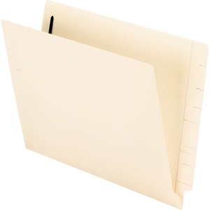 "Esselte Manila End Tab File Folder with Fastener - Letter - 8.5"" x 11"" - Straight Tab Cut - 0.75"" Expansion - 2 Fastener - 2"" Capacity - 50 / Box - 11pt. - Manila"