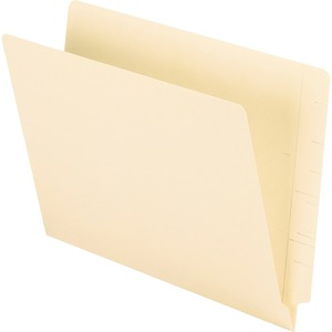 "Oxford Straight Cut End Tab File Folder - Letter - 8.5"" x 11"" - 0.75"" Expansion - 100 / Box - 11pt. - Manila"