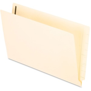 "Esselte Manila End Tab File Folder with Fastener - Legal - 8.5"" x 14"" - Straight Tab Cut - 0.75"" Expansion - 2 Fastener - 2"" Capacity - 50 / Box - 11pt. - Manila"