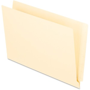 "Oxford Straight Cut End Tab File Folder - Legal - 8.5"" x 14"" - Straight Tab Cut - 0.75"" Expansion - 100 / Box - 11pt. - Manila"