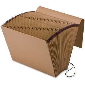"Esselte Pendaflex Full-Flap Daily Expanding File - 0.88"" Expansion - 8.5"" x 11"", 10"" x 12"" - Letter - 1 Each - Brown"