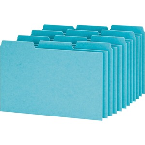 "Esselte Pressboard Filing Index Card Guide - Blank - 3 Tab(s)/Set - 8"" x 5"" - 100 / Box - Blue Divider"