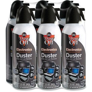 Falcon Dust-Off DPSXL6 XL Compressed Gas Duster - Cleaning Spray - Black