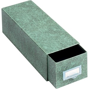 "Globe-Weis Heavy-duty Index Card Storage Drawer - Internal Dimension 3"" Height x 5"" Width x 14.5"" Depth - Fiberboard - Green"
