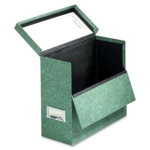 "Globe-Weis 591 Storage Case - Letter - External Dimensions 10.12"" Height x 12"" Width x 4.75"" Depth - Fiberboard - Marble Green"