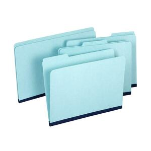 "Globe-Weis Expanding Pressboard File Folder - 1"" Expansion - 9.5"" x 14.75"" - 20 / Box - Blue"