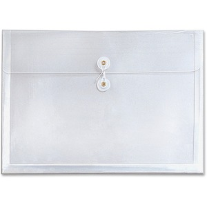 "Globe-Weis GlobalFile Durable Envelope - 1"" Expansion - 8.5"" x 11"" - Letter - 1 Each - Clear"