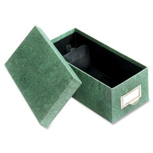 "Globe-Weis Agate Card File - 1000 x Card - Internal Dimension 3"" Height x 5"" Width x 11.62"" Depth - Fiberboard - Green"
