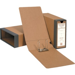 "Globe-Weis Columbia Binding Case - External Dimensions 3.87"" Height x 2.5"" Width x 13"" Depth - Fiberboard, Kraft - Brown"