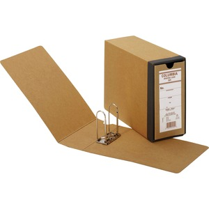 "Globe-Weis Columbia Binding Case - Letter - External Dimensions 9.5"" Height x 4.62"" Width x 12.87"" Depth - Fiberboard, Kraft - Brown"