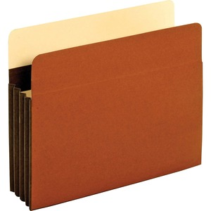 "Globe-Weis Expansion File Pocket - Letter - 8.5"" x 11"" - 3.5"" Expansion - 1 Each - 24pt. - Brown"