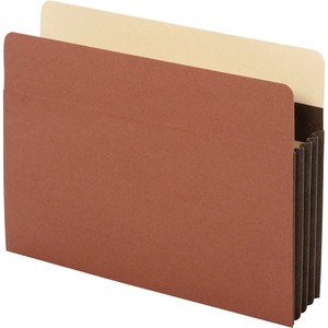 "Globe-Weis Extra Wide Accordion File Pocket - Letter - 8.5"" x 11"" - 3.5"" Expansion - 1 Each - 24pt. - Brown"