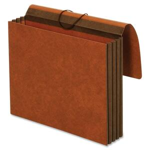 "Globe-Weis Rip-proof Heavy-Duty Wallet - Letter - 8.5"" x 11"" - 3.5"" Expansion - 1 Each - 24pt. - Brown"