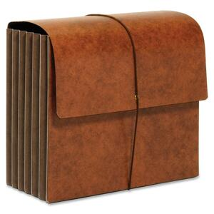 "Globe-Weis Rip-proof Heavy-Duty Wallet - Letter - 8.5"" x 11"" - 5.25"" Expansion - 1 Each - 24pt. - Brown"