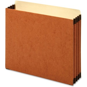 "Globe-Weis Heavy-duty Accordion File Pocket - Letter - 8.5"" x 11"" - 3.5"" Expansion - 1 Each - 22pt. - Brown"