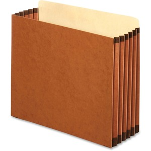 "Globe-Weis Heavy-duty Accordion File Pocket - Letter - 8.5"" x 11"" - 5.25"" Expansion - 1 Each - 22pt. - Brown"
